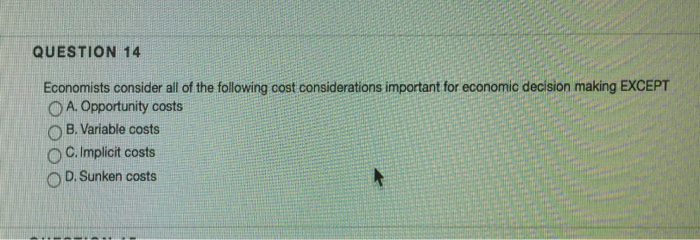 why are costs important in economics