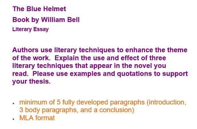 Extended Essay Topics English  Thesis For Compare And Contrast Essay also Sample Synthesis Essays The Blue Helmet Book By William Bell Literary Essa  Synthesis Essay