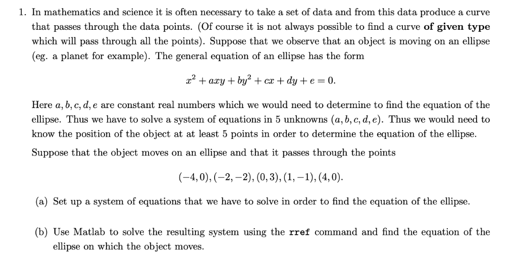 Solved: 1  In Mathematics And Science It Is Often Necessar