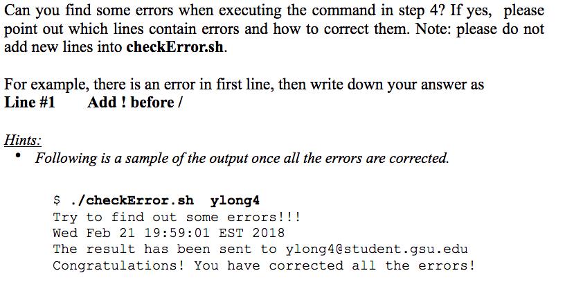 Solved: #   /bin/bash // Check Error Script Echo