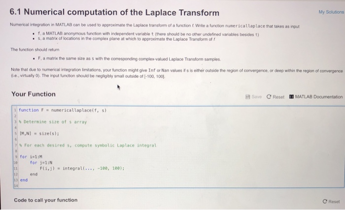 6 1 Numerical Computation Of The Laplace Transform