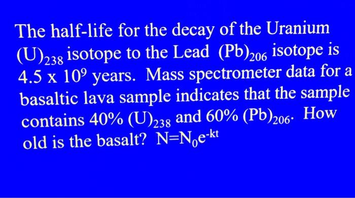 uranium to lead decay