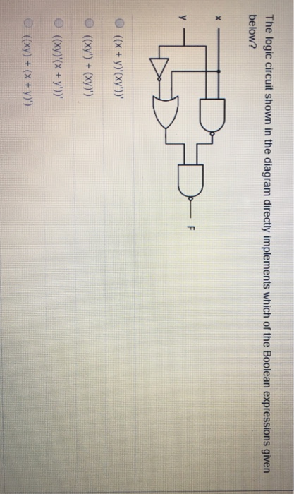 Solved  The Logic Circuit Shown In The Diagram Directly Im