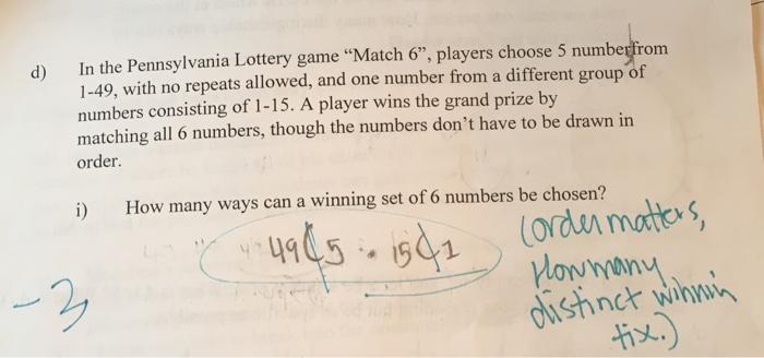 pa lottery match 6