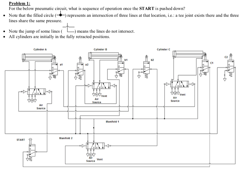 air cylinder schematic solved problem 1 for the below pneumatic circuit  what i  below pneumatic circuit