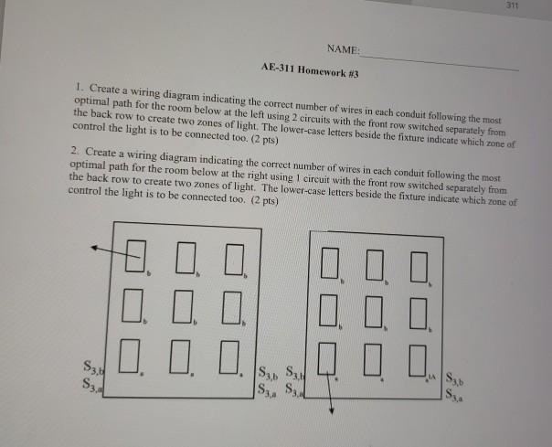 311 NAME AE-311 Homework #3 I. Create A Wiring Dia ... Ae Wiring Diagram on