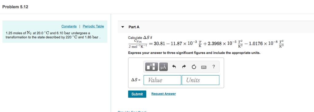 Solved Problem 512 Constantsi Periodic Table Part A 125
