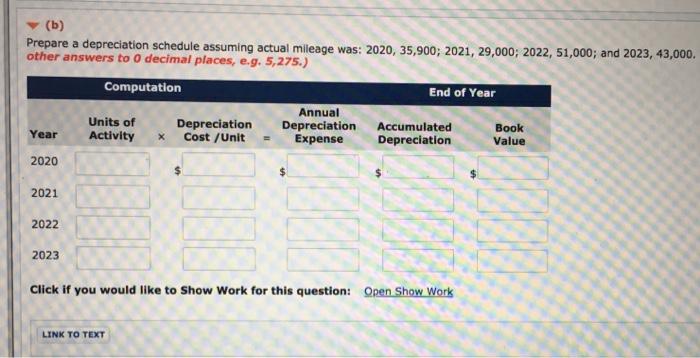 Prepare A Depreciation Schedule Assuming Actual Mi      Chegg com