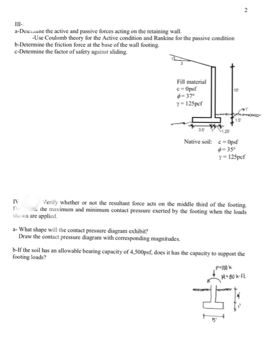Solved: Determine The Ultimate Bearing Capacity Of A Soil