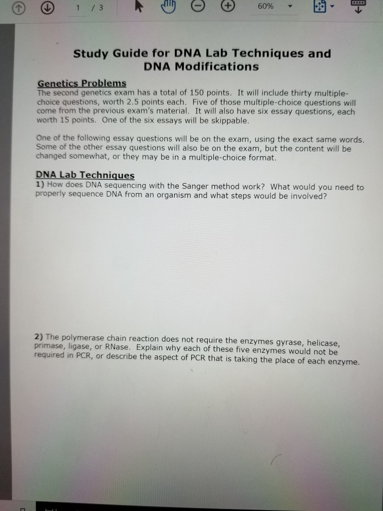 Analysis Essay Thesis Example Study Guide For Dna Lab Techniques And Dna Modifications Genetics Problems  The Second Genetics Exam Has English Essay Topics For College Students also Best Online Assignment Help Solved Genetics Study Guide Exam  Rna Techniques Mutage  Life After High School Essay