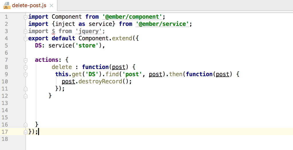Ember Js/ Firebase- I Have A Post hbs File That Wh    | Chegg com