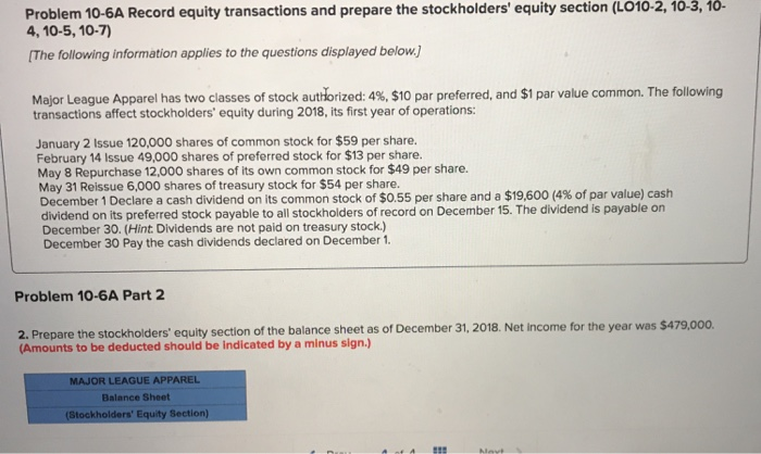 c848e2502093 Solved  Equity Section (LO10-2