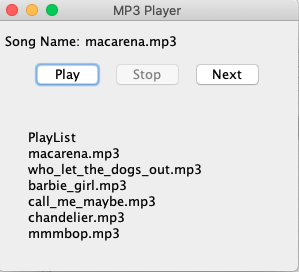 Code For Mp3 Player