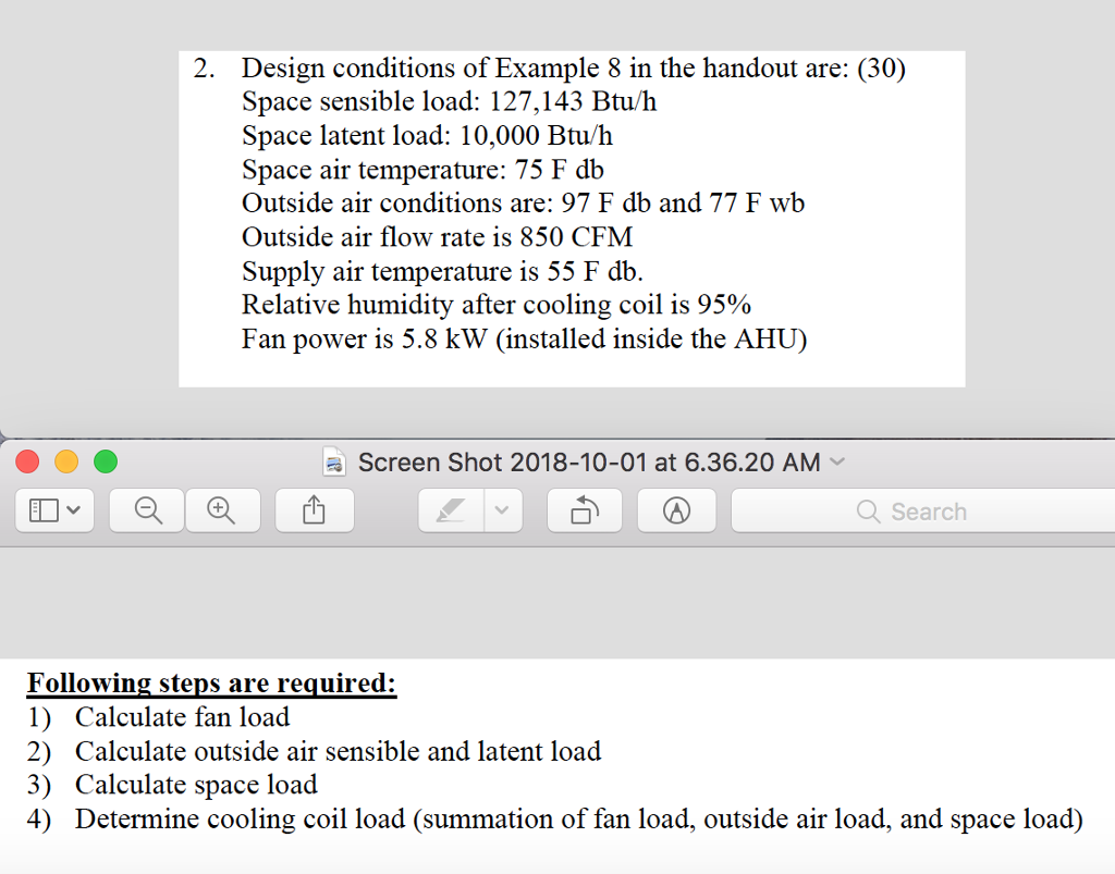 2  Design Conditions Of Example 8 In The Handout A