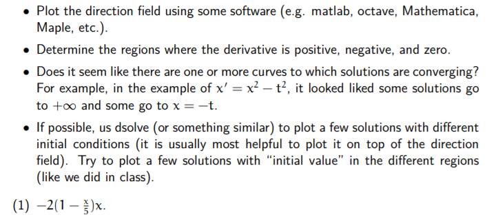 Solved: Plot The Direction Field Using Some Software (e g