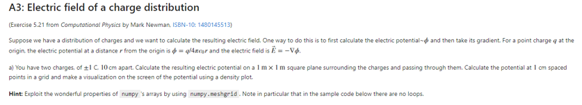 Solved: A& Electric Field Of A Charge Distribution (Exerci