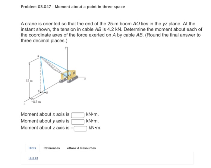 Problem 03047 moment about a point in three space chegg problem 03047 moment about a point in three space a crane is oriented so that the fandeluxe Ebook collections