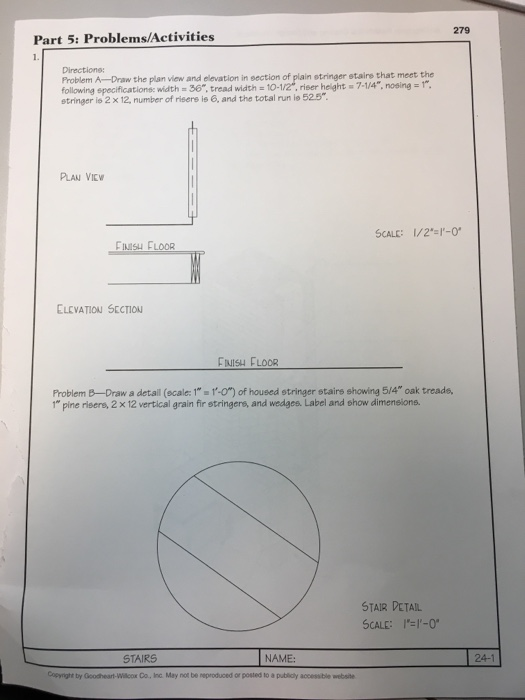 Solved: A-Draw The Plan View And Elevation In Section Of P