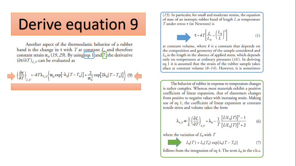Solved Please Help Me With This Formula Derivation Of Eq Chegg Com