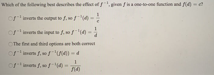 Solved: Which Of The Following Best Describes The Effect O ...