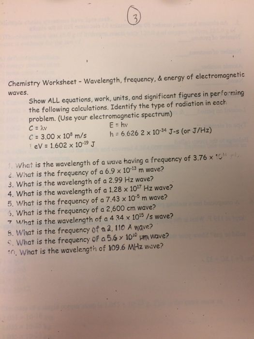 Solved: Show ALL Equations, Work, Units, And Significant F ...