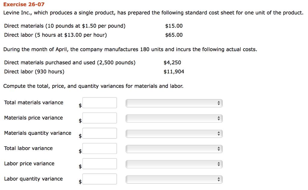 Solved: Mordica Company's Standard Labor Cost Per Unit Of