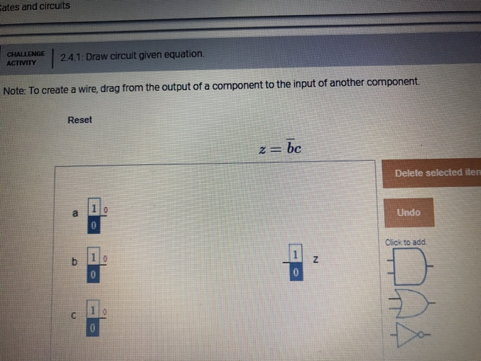 Solved: Ates And Circuits CHALLENGE A1: Draw Circuit Given ...