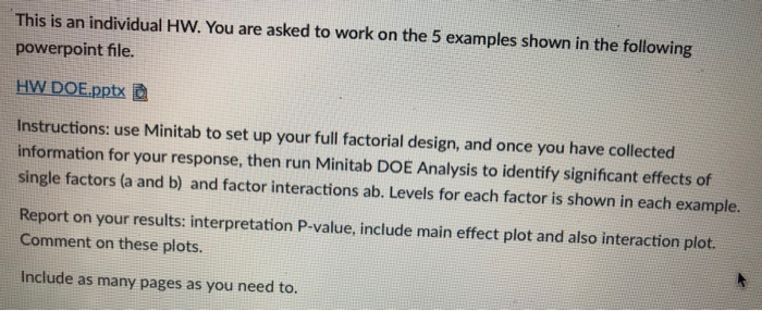 Solved: This Is An Individual HW  You Are Asked To Work On