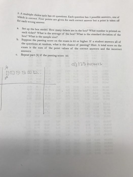 Solved: 5  A Multiple Choice Quiz Has 25 Questions  Each Q