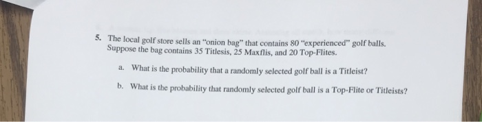 7322a0b00fae The local golf store sells an onion bag that contains 80 experienced golf  balls