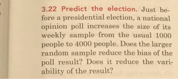 Solved: 3 22 Predict The Election  Just Be- Fore A Preside
