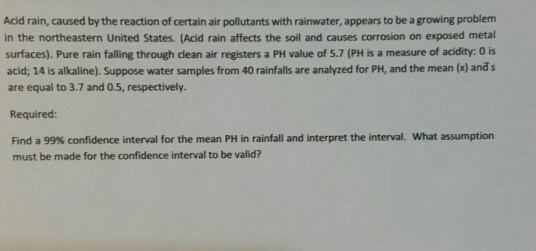 what is acid rain caused by