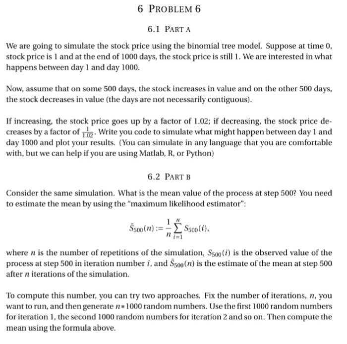 Solved: 6 PROBLEM 6 6 1 PART A We Are Going To Simulate Th