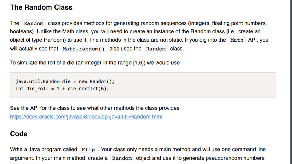 Solved: The Random Class The Random Class Provides Methods