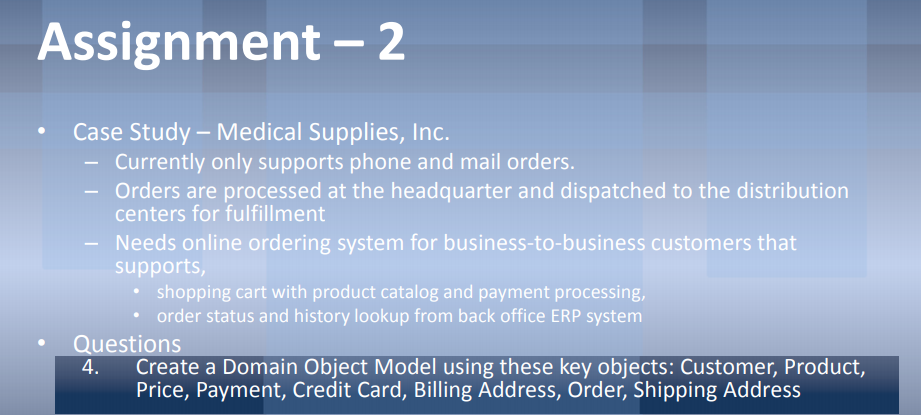 Assignment- 2 Case Study-Medical Supplies, Inc