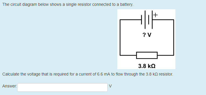 Solved: The Circuit Diagram Below Shows A Single Resistor ... on