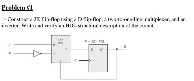 f3bd10bb44612 Solved  Problem  1 1- Construct A JK Flip-flop Using A D F ...