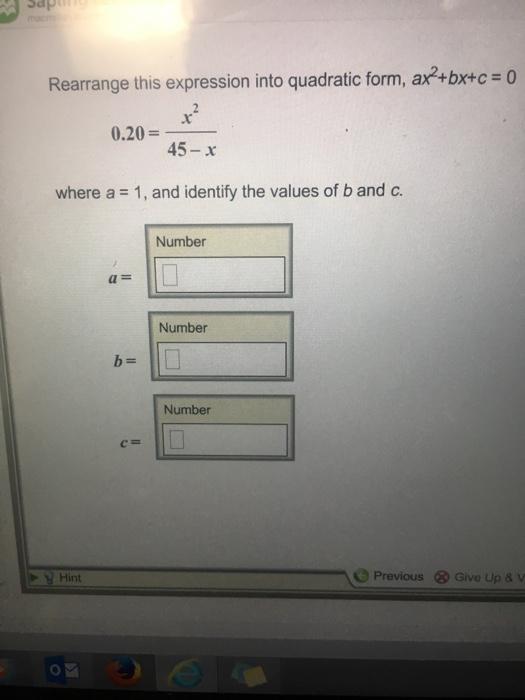 Quadratic Functions (General Form)