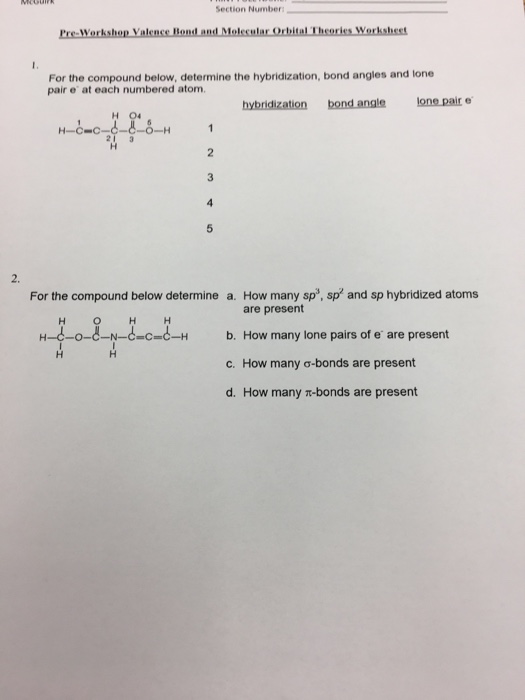 Solved: Section Number For The Compound Below, Determine T ...