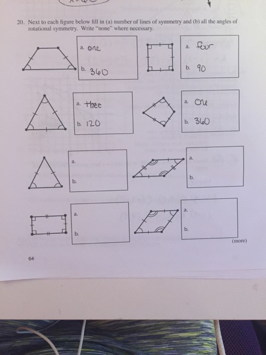 Solved Next To Each Figure Below Till In A Number Of Li