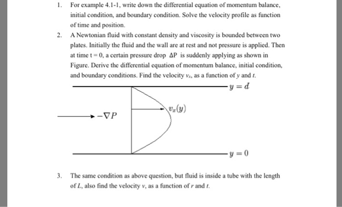 Solved For Example 41 1 Write Down The Differential Equ