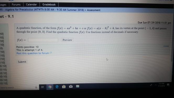 Solved: Sages Forums Calendar Gradebook 95- Algebra For Pr