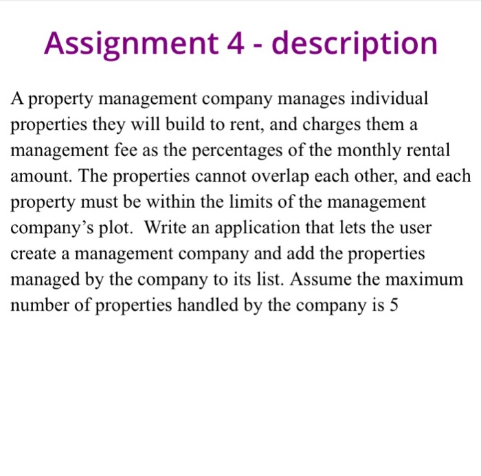 property assignment