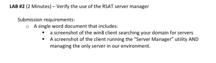 LAB #2 (2 Minutes)-Verify The Use Of The RSAT Serv