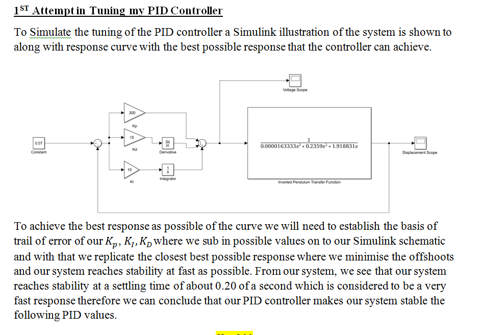 Solved: İST Atteinpt In Tuning Inv PID Controller To Simul