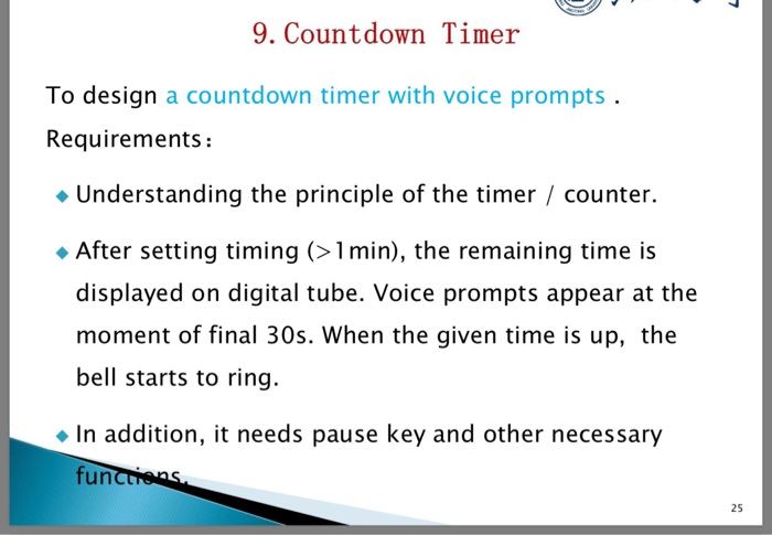 Solved: 9  Countdown Timer To Design A Countdown Timer Wit