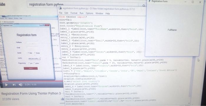 Solved: Ube Registration Form Pythnn Registration Form Pyt
