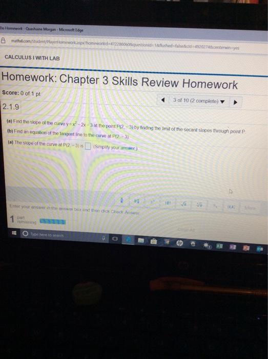 Solved: Do Homework-Quashaine Moegan-Microsoft Edge Omewor