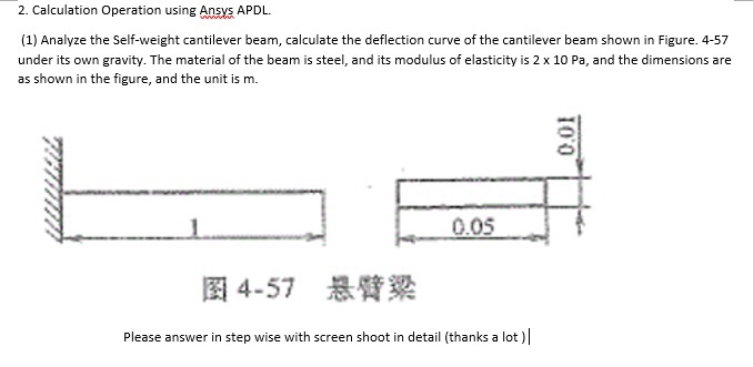Solved: 2  Calculation Operation Using Ansys APDL (1) Anal