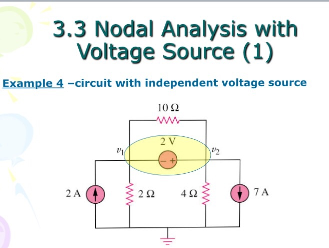 3 3 Nodal Analysis With Voltage Source (1) Example